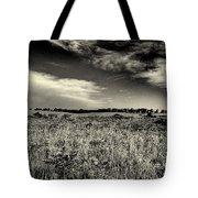 Nebraska Prairie Two In Black And White Tote Bag