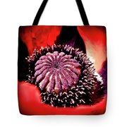 Nebulous Poppy Tote Bag