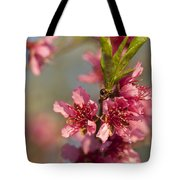 Nectarine Blossoms Tote Bag