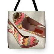 Needlepoint Peep Toes Tote Bag
