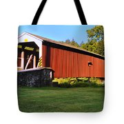 Neff's Mill Covered Bridge In Lancaster County Pa. Tote Bag