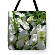 Nemesia Named Poetry White Tote Bag