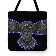 Neon Owl Tote Bag