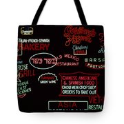 Neon Signs, 1937-1971 Tote Bag by Granger