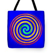 Neon Spiral Blue Tote Bag