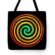 Neon Spiral Tote Bag