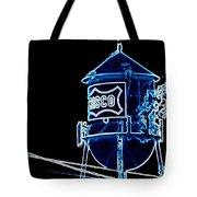 Neon Water Tower Tote Bag