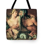 Neptune And Amphitrite Tote Bag by Jacob II de Gheyn