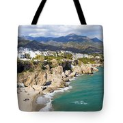 Nerja Town On Costa Del Sol In Spain Tote Bag