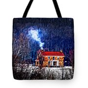 Nestled In For The Winter Tote Bag
