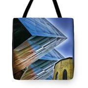 New And Old Building Tote Bag