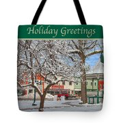 New England Christmas Tote Bag by Joann Vitali