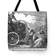 New England: Harvest, 1830 Tote Bag