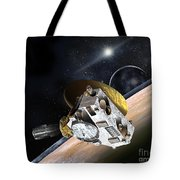 New Horizons Spacecraft At Pluto Tote Bag
