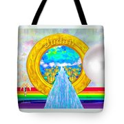 New Jerusalem Closeup - City Of God's Kingdom On Earth Tote Bag