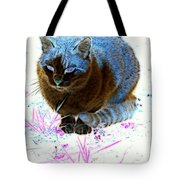 New Kitty Blue Tote Bag