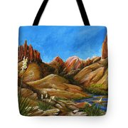 New Mexico Highlands In Spring Tote Bag