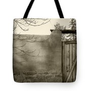 New Mexico Series - Doorway II Black And White Tote Bag