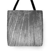 New Mexico Series - Leaf Free Black And White Tote Bag