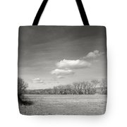 New Mexico Series - The Long View Black And White Tote Bag