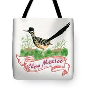 New Mexico State Bird The Greater Roadrunner Tote Bag