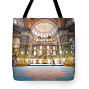 New Mosque Interior In Istanbul Tote Bag