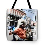 New Orleans Street Musician - Tuba Man Tote Bag