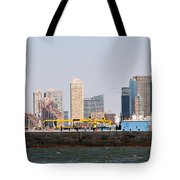 New York And The Barge Tote Bag