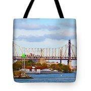 New York Bridge Water View Tote Bag