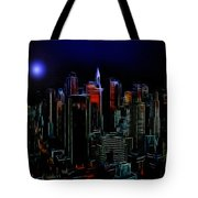 New York By Moonlight Tote Bag