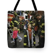 New York City Firefighters Host Tote Bag
