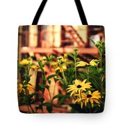 New York City Flowers Along The High Line Park Tote Bag