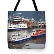 New York City Sightseeing Boats Tote Bag