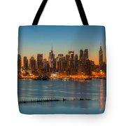 New York City Skyline Morning Twilight IIi Tote Bag