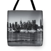 New York City Skyline Morning Twilight Iv Tote Bag