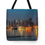 New York City Skyline Morning Twilight Xi Tote Bag