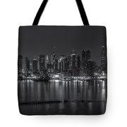 New York City Skyline Morning Twilight Xvi Tote Bag
