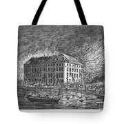 New York: Fire Of 1835 Tote Bag