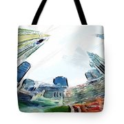 New York Looking Up The Sky Tote Bag