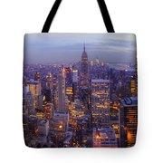 New York Skyline Panorama Tote Bag