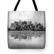 New York Skyline Reflected Tote Bag