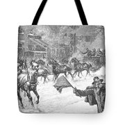New York: Snowstorm, 1887 Tote Bag
