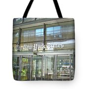 New York Times Reflection Tote Bag