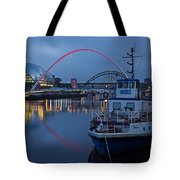 Newcastle Quayside At Night Tote Bag