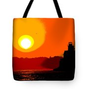 Newport Lighthouse Tote Bag