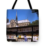 Newstand Next To Notre Dame Tote Bag
