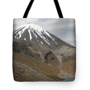 Ngauruhoe Cone And Upper Tama Lake Tote Bag