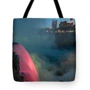 Niagara At Night Tote Bag