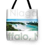 Niagara Falls Day Panorama Tote Bag