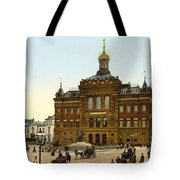 Nicolaus Copernicus Monument In Warsaw Poland Tote Bag by International  Images
